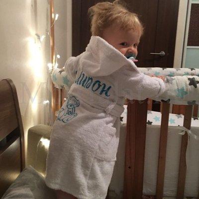 Вышивка на детском халате